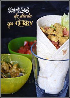 Recette des wraps de dinde au curry et crudités ©Kaderick en Kuizinn