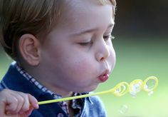 Prince George plays with bubbles at a children's party for Military families in Canada. October 2016 Photo:Chris Jackson/PA Wire  via @AOL_Lifestyle Read more: https://www.aol.com/article/lifestyle/2017/06/07/duchess-kate-middleton-raising-children-her-way/22130655/?a_dgi=aolshare_pinterest#fullscreen