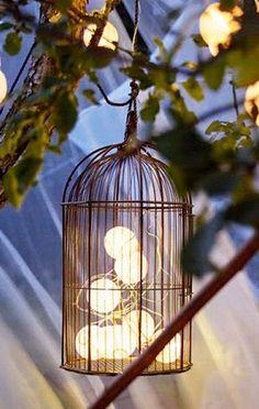 cordao de luz branco luminária