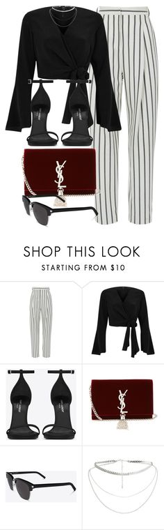 """#14736"" by vany-alvarado ❤ liked on Polyvore featuring TIBI, River Island and Yves Saint Laurent"