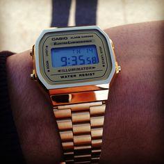 Casio gold watch Gold#vintage#casio#wrist.