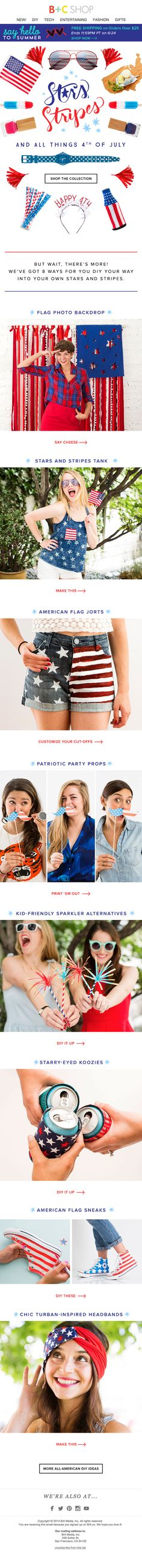 Fourth of July Collection and Patriotic DIYs from Brit + Co, of course!