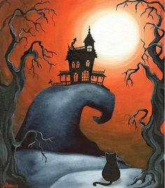 Haunted House on Old Witch Hill by Annya Kai.
