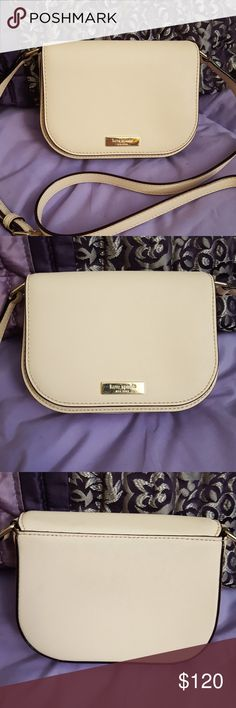 """Kate Spade Blush Pink Carsen Laurel Way Crossbody Kate Spade Blush Pink Carsen Laurel Way Cross body Purse. EUC gently used bag, very minor faint color transfer on the back that is hardly noticeable. Blush pink (pebble) saffiano leather with gold hardware. Inside is stain free, adjustable strap, magnetic closure. Interior has one slip pocket. Comes from a smoke free home. Check out my other listing for sale! Dimensions: 7"""" L x 2.5"""" W x 5"""" H, adjustable strap: 23.5"""".   *All earnings will go…"""