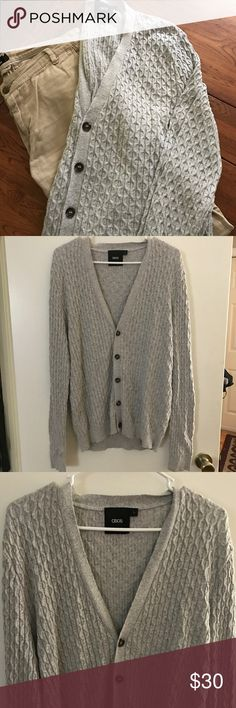 ASOS men's cable-knit sweater Like-new condition, no stains or flaws ~ Feel free to ask any question you may have. I accept most reasonable offers. I usually ship within 1 to 2 days, and many of my customers give me 5-star ratings. Asos Sweaters Cardigan