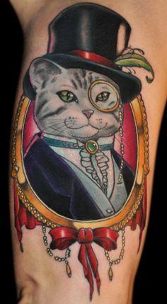 Fancy Cat Tattoo