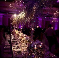 Purple Wedding Flowers Purple and gold wedding reception over the top. Purple And Gold Wedding Themes, Royal Purple Wedding, Wedding Colors, Wedding Flowers, Plum Wedding, Forest Wedding, Star Wedding, Dream Wedding, Galaxy Wedding