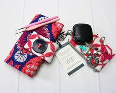 Steel Crochet Hooks - Crochet Hook Case - Crochet Hook Roll - Crochet Hook Holder - Hook Organizer - Floral Hook Case - Joel Dewberry by TalfourdJones on Etsy