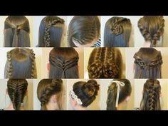 14 Easy Hairstyles For School Compilation! 2 Weeks Of Heatless Hair Tutorials - YouTube