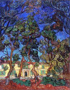 Hospital at Saint-Rémy (1889) - Vincent van Gogh