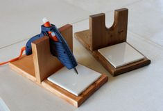 Crafter / Floral Hot Glue Gun Holder / Stand Hand Made in the USA on Etsy, $15.95