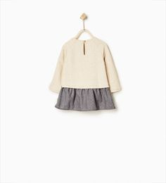 Contrast dress-DRESSES-Baby girl-Baby | 3 months - 3 years-KIDS | ZARA United States