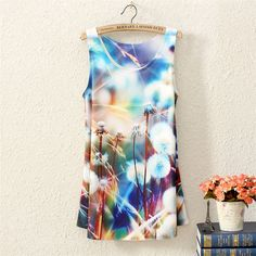 tank top dandelion print#lovely outfits