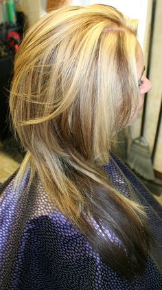 Loving this look! Dark underneath and lowlighted helps keep a blonde from getting washed out.