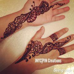 Attempting henna art