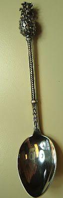 Vintage sterling silver pineapple spoon