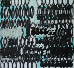 """woven"", 2013, 150 x 140 cm, mixed media on canvas"