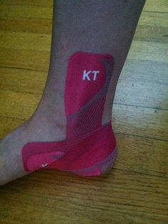 KT Tape Pro ankle stability application by KT TAPE, via Flickr ((I think that I should invest in some of this stuff!))