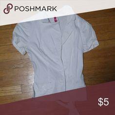 White short sleeve jacket Super cute jacket. Small spot on jacket edge. Jackets & Coats Blazers