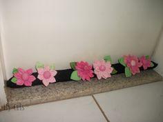 Veda Portas com Flores de Fuxico