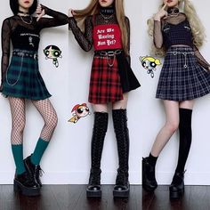 edgy outfits This post took me a while to prepare but Im glad I did it (even though Im dead tired ). Here are Powerpuff girls inspired outfits for Image source Outfits Casual, Hipster Outfits, Kpop Outfits, Grunge Outfits, Girl Outfits, Fashion Outfits, Hipster Style, Spring Outfits, Fashion Tips