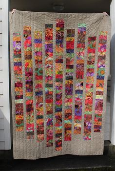 Quilting is more fun than Housework.: A Scrappy Kaffe FinishYou can find Scraps quilt and more on our website.Quilting is more fun than Housework.: A Scrappy Kaffe Finish Colchas Quilting, Scrappy Quilt Patterns, Jellyroll Quilts, Scrappy Quilts, Easy Quilts, Quilting Projects, Quilting Designs, Quilt Blocks, Crazy Quilting