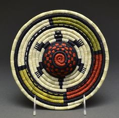 Coiled Plaque by Ella Tawahongva (Hopi)