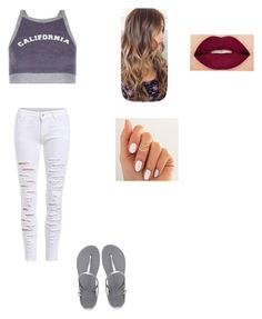 """""""Untitled #527"""" by lovemahone74 ❤ liked on Polyvore featuring New Look, WithChic, Havaianas and Smashbox"""