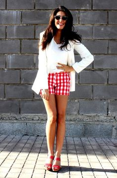 A great way to wear gingham