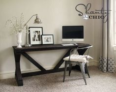 love this simple desk- ana white