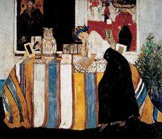 Mario Cavaglieri (Italie, 1887-1969) – Giulietta appoggiata al tavolo (1922) Collection privée