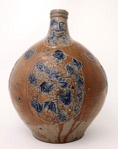 Bartmannkrug Köln 1. Hälfte 16. Jh.  Photo Courtesy: Potteries Museum & Art Gallery