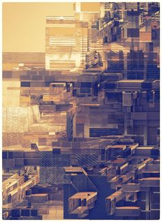 """I love the sense of otherworldliness in this series called """"Structures"""" by Peter Olschinsky and Verena Weiss, of Atelier Olschinsky, Vienna, Austria. Architecture Drawings, Concept Architecture, Futuristic Architecture, City And Colour, Art Base, Pics Art, Graphic Design Typography, Geometric Art, Digital Illustration"""