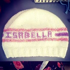 A personal favorite from my Etsy shop https://www.etsy.com/listing/493371895/girls-personalized-knit-hat-handmade