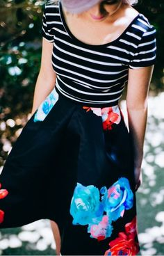 Nasty Gal Bloom and Board Pleated Skirt