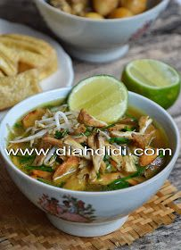 Diah Didi's Kitchen: Soto Kudus ( Resep Baru ) Asian Recipes, Healthy Recipes, Ethnic Recipes, Asian Foods, Healthy Food, Yummy Food, Pasta With Walnuts, Diah Didi Kitchen, Malay Food