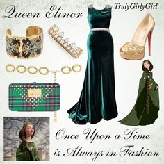 """Disney Style: Queen Elinor"" by trulygirlygirl ❤ liked on Polyvore"