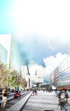 Jaarbeursplein Utrecht Winning Proposal / Witteveen+Bos, OKRA, and ZJA