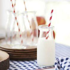Glass Milk Bottle Set