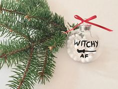 WITCHY AF Ornament Funny Ornament Christmas Tree Ornament