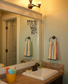 Moaning Myrtle Was Here Bathroom Decal on Etsy, $9.99