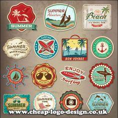 surfing beach logo and label ideas www.cheap-logo-design.co.uk #surflabel #surflogo #beach