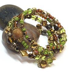 Деревенское Wrap браслет - браслет памяти провода - Сельский Boho браслет для нее - Hippie Braclet - лучший друг Подарки - Подарки для мамы