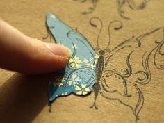 Karten-Kunst Technique #7: Colorieren mit Motivpapier aka Paper-Piecing
