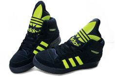 Adidas Obyo Shoes Green Dark Blue