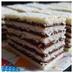 Hatlapos   Betty hobbi konyhája Vanilla Cake, Tiramisu, Muffin, Sweets, Cookies, Breakfast, Ethnic Recipes, Food, Crack Crackers