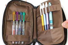 Lihit Lab Teffa Pen Case - Book Style - Black - LIHIT LAB A-7551-24