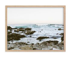 """Rocky Coast"" - Art Print by Janel Galvez in beautiful frame options and a variety of sizes."
