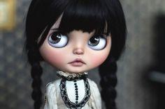 "Custom OOAK Blythe Art Doll ""Velouria"" by Cupcake Curio #Blythe #DollswithClothingAccessories"