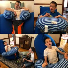 Ivan sitting in the Yogibo Special Needs Mom, Special Needs Kids, Cerebral Palsy Activities, Multiple Disabilities, Adaptive Equipment, Learning Styles, Working With Children, Occupational Therapy, Special Education